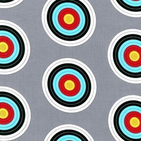 Sports Life 3 Archery Target Shooting Targets Grey Cotton Fabric
