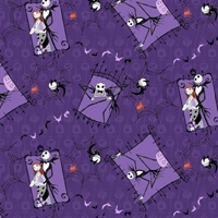 Picture of Nightmare Before Christmas Couple Jack and Sally Shock Cotton Fabric