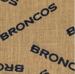 NFL Football Denver Broncos Burlap Jute Fabric by the Yard