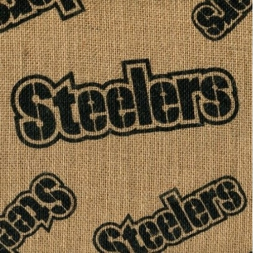 NFL Football Pittsburgh Steelers Burlap Jute Fabric by the Yard