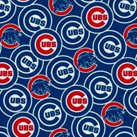Picture of MLB Baseball Chicago Cubs New Logos Bears Blue 18x29 Cotton Fabric