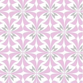 Picture of Concord House Grace Flutter Pink Grey and White Design Cotton Fabric
