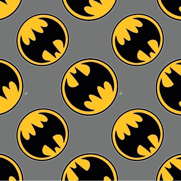 Batman Thwack Action Squares Cotton Fabric Fat Quarter
