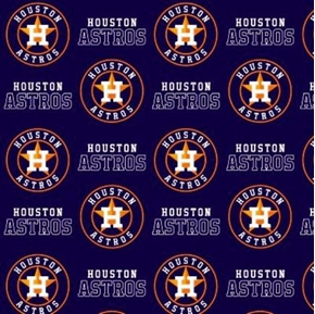 MLB Baseball Houston Astros Blue 18x29 Cotton Fabric