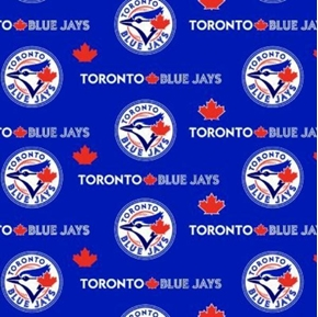 MLB Baseball Toronto Blue Jays Blue 18x29 Cotton Fabric
