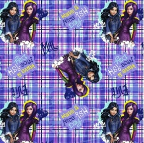 Disney Descendants Have a Nice-ish Day Evie Mal Movie Cotton Fabric