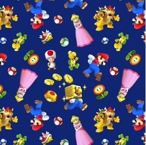 Picture of Nintendo Super Mario 2 Character Toss Toys Video Game Cotton Fabric