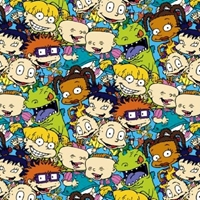 Picture of Nickelodeon Rugrats Packed Characters Cotton Fabric