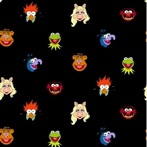 Sesame Street Muppets Muppet Multi Miss Piggy Grover Cotton Fabric