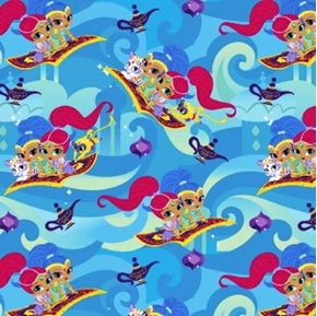 Shimmer and Shine Friends Genies Nickelodeon Series Cotton Fabric