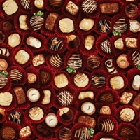 Picture of The Sweet Shop Chocolates Confections Candy Cotton Fabric
