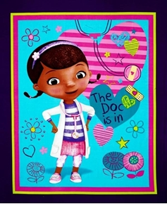 Disney Doc McStuffins The Doc Is In Large Cotton Fabric Panel