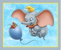 Picture of Disney Dumbo the Elephant and Balloon Large Cotton Fabric Panel