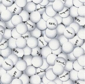 Picture of Golf Balls Golfing Elite Sports Golf Pro Back Nine Cotton Fabric