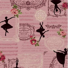 Ruru Bouquet Prima French Classical Opera Ballet Pink Cotton Fabric