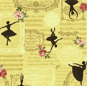 Ruru Bouquet Prima French Classical Opera Ballet Yellow Cotton Fabric