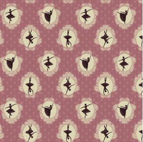 Picture of Ruru Bouquet Prima Cameo French Classical Ballet Mauve Cotton Fabric