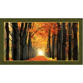 Picture of Artworks In Love With Fall Again 24x44 Digital Cotton Fabric Panel