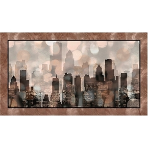Artworks Vintage City Lights 24x44 Digitally Printed Cotton Panel