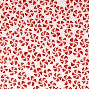 Picture of Festive Tiny Peppermint Candy Holiday Organic Cotton Fabric