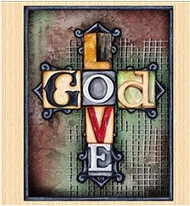Picture of Glory Love God Typographic Art Tiles Religious 24x22 Pillow Panel