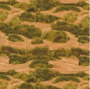 Danscapes 2015 Sand Dunes Tundra Tufts of Grass Brown Cotton Fabric