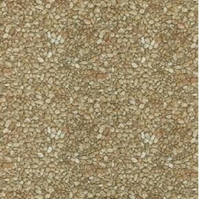 Danscapes Spring Tan Gravel Pebbles Stones Cotton Fabric