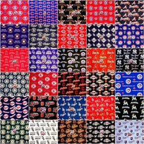 Picture of MLB Baseball 30 Teams 6-inch Cotton Fabric Quilt Square Set.