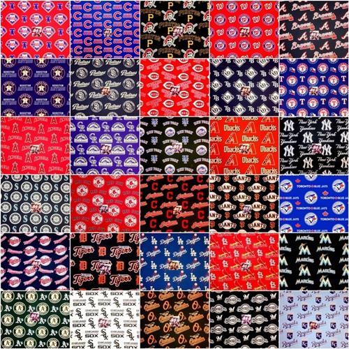 Cotton Fabric - Six Inch Squares Fabric Set - All 30 MLB Baseball ... : baseball fabric for quilting - Adamdwight.com