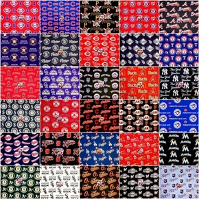 MLB Baseball 30 Team Licensed Cotton Fabric Fat Quarter Bundle