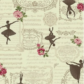 Ruru Bouquet Prima French Classical Opera Ballet Cream Cotton Fabric