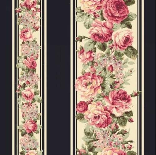 Cotton Fabric Childrens Fabric Ruru Bouquet Prima Ballet Dark