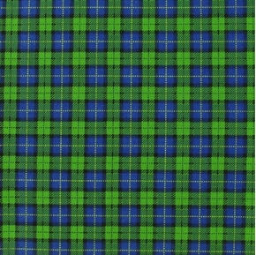 John Deere Tractors Black Watch Plaid Cotton Fabric