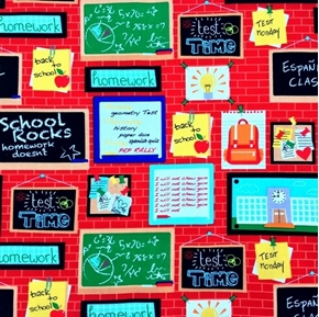 Picture of Head of the Class Bulletin Board Brick School Classroom Cotton Fabric