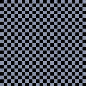 Picture of Alphabet Friends Black and Grey Checks Checkered Cotton Fabric