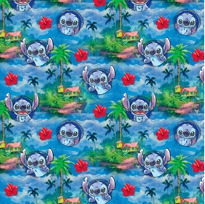 Disney Lilo and Stitch Hawaiin Nights Tropical Cotton Fabric