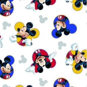 Disney Mickey Mouse The One and Only Mickey Cameo Cotton Fabric
