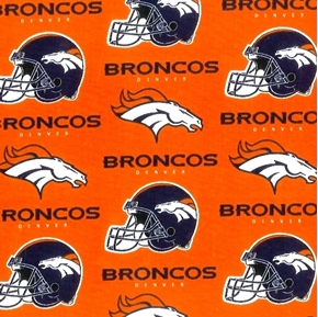 NFL Football Denver Broncos Orange 18x29 Cotton Fabric
