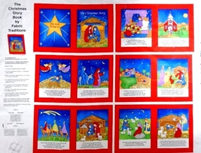 The Christmas Story Children's Nativity Cotton Fabric Book Craft