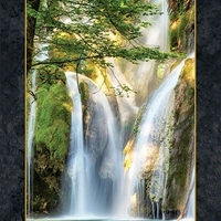 Picture of Artworks Le Cascade Beautiful Waterfall Photography 24x44 Fabric Panel