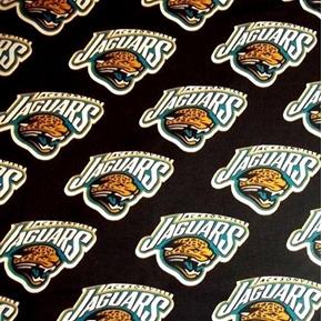 NFL Football Jacksonville Jaguars 1995 Logo OOP 18x29 Cotton Fabric
