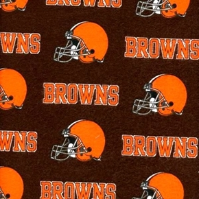 Flannel NFL Football Cleveland Browns OOP 18x29 Cotton Fabric