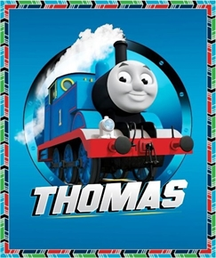 Picture of Fast Friends Thomas the Tank Engine Cotton Fabric Panel