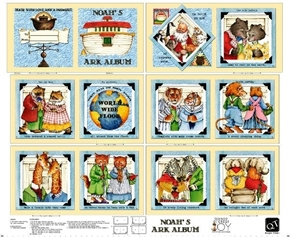 Classic Storybooks Noah's Ark Album Animal Fabric Book Craft Panel