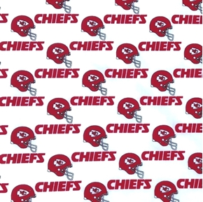 NFL Football Kansas City Chiefs 1994 OOP White 18x29 Cotton Fabric