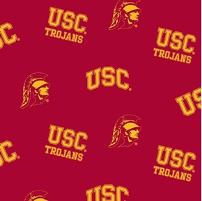 USC University of Southern California Trojans College Cotton Fabric
