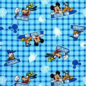 Flannel Disney Mickey and Friends Outdoor Fun Explore Cotton Fabric
