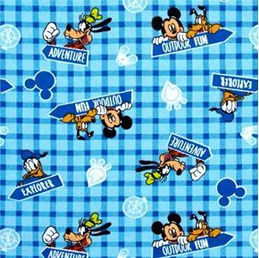 Flannel Disney Mickey and Friends Outdoor Fun Explore Cotton Fabric