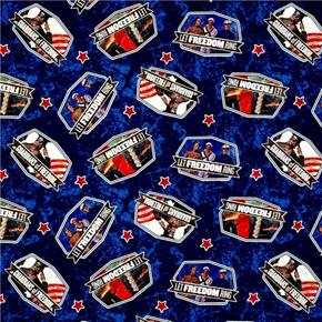 Picture of Saturday Evening Post Patriotic Toss Military Freedom Cotton Fabric