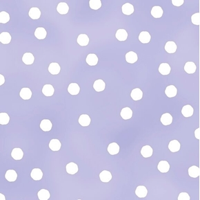 Picture of Happy Cats Jumbo Dots White Dot on Lilac Cotton Fabric